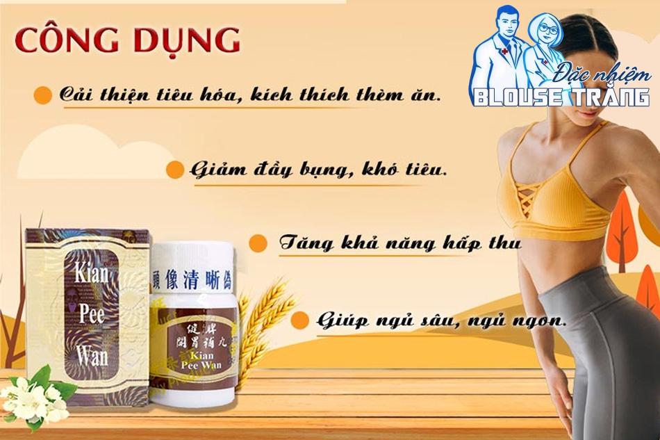 Tác dụng dược lý của Kian Pee Wan