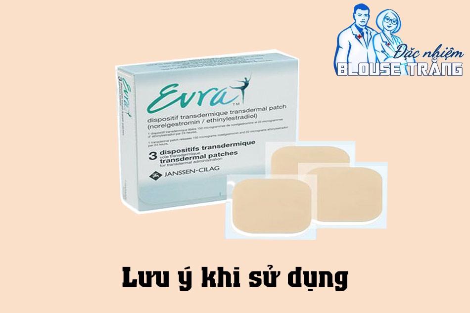 Lưu ý khi sử dụng miếng dán tranh thai Erva