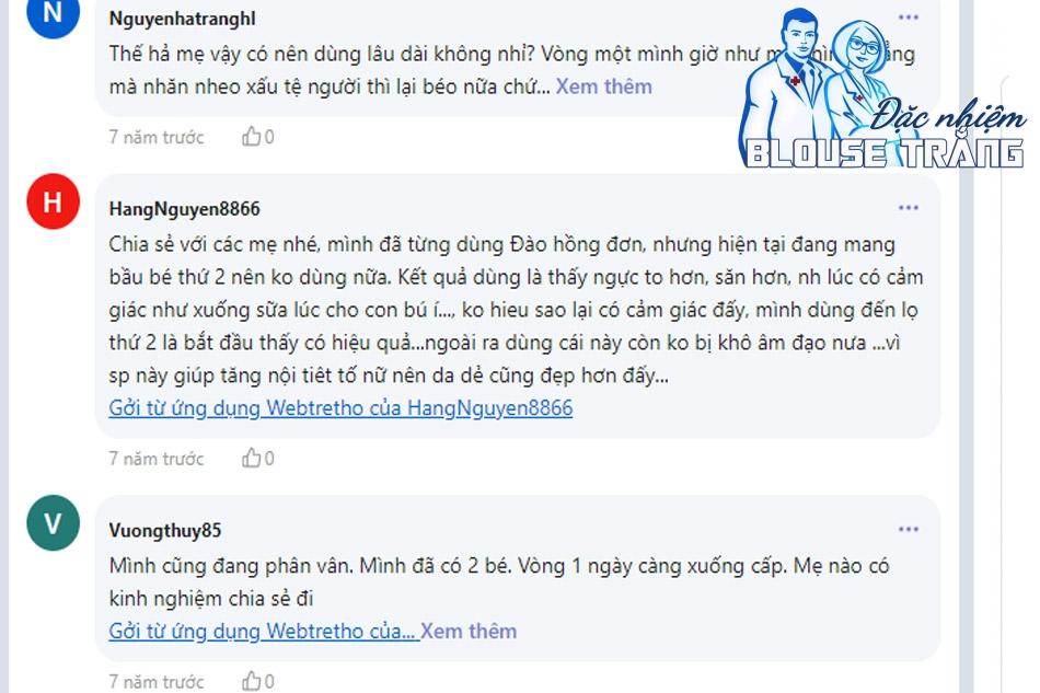 review từ người dùng trên Webtretho