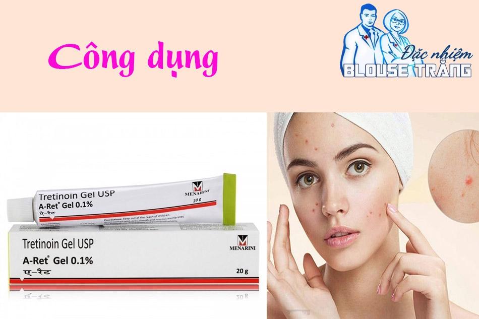 Công dụng của Tretinoin Gel USP Aret Menarini