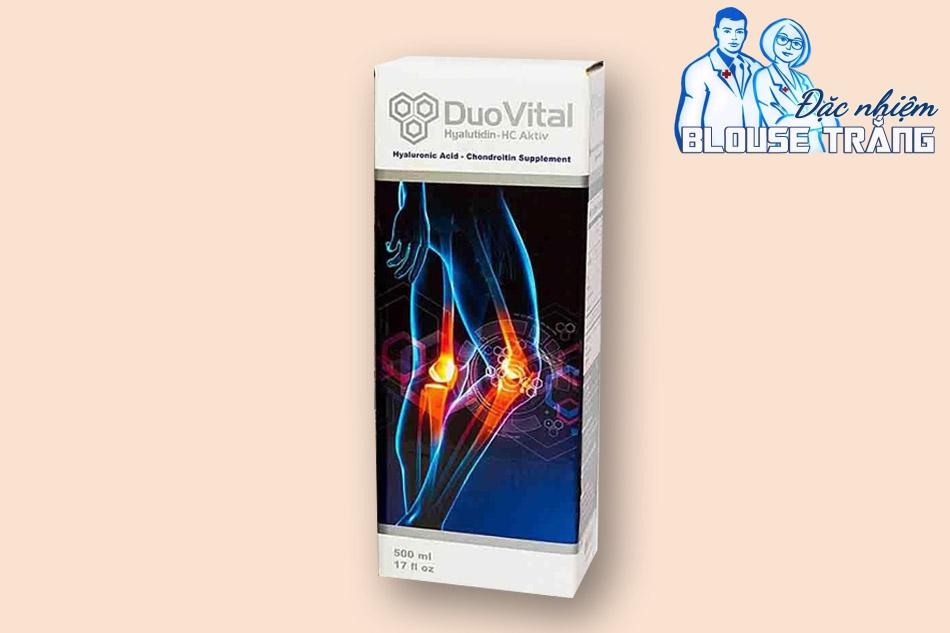 Thành phần Axit Hyaluronic - Chondroitin trong DuoVital 500ml có tác dụng nuôi dưỡng, bảo vệ sụn khớp